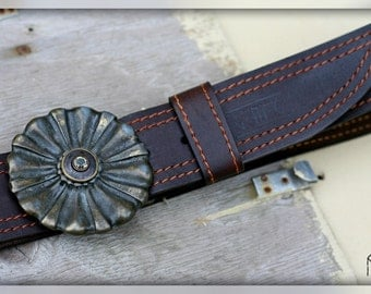 "Leather Belt ""Kvitka"""