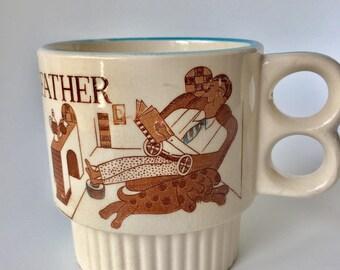 Vintage Father Mug | Father Mug Made in Japan | Father's Day Gift | Dad Coffee Mug