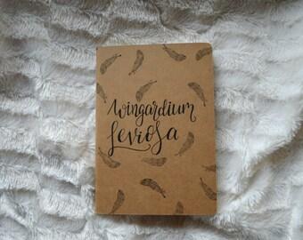 A5 Notebook Wingardium leviosa, Harry potter , Feather , lined