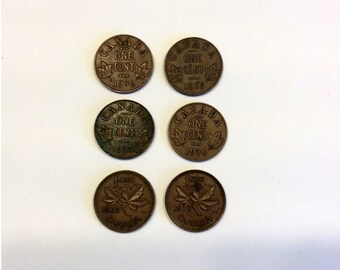 1930s Canadian Pennies
