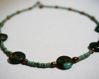 "Green Magnesite Necklace - ""Canopy"""