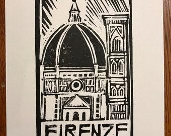 Firenze Block Print