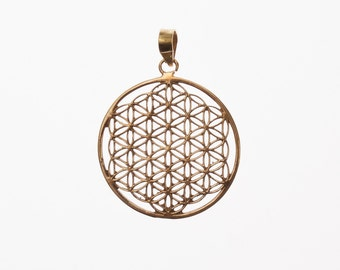 Flower of life brass large