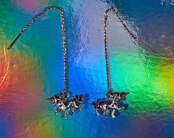 Unicorn Threader Earrings