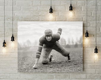 Old Football Photo, 1920, Football Prints, John Loehler, Hatchetites Gridiron Star, Black White, Gift, Football Players, Sports Photos