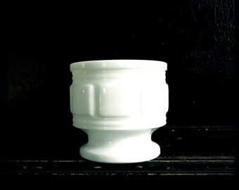 SALE - Vintage Milk Glass Vase | Vintage Planter | Candle Holder | Discount 2 +