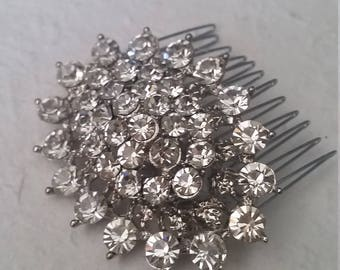 Beautiful Diamante Hair Comb Wedding Prom Party