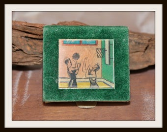 Vintage Kingsbridge Animated Basketball Matchbox no. 5595, Tobacciana Collectible, Animated Matchbox, Matches