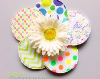 Neons, Cloth Nursing Pads, Reusable, Washable, Environmentally Friendly, Flannel, Cotton Nursing Pads, Breast Feeding, Eco Friendly,