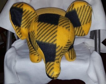 Hand Sewn Polar Fleece Elephant ET#7