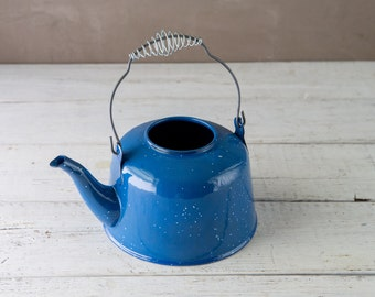 Blue Enameled Kettle-Food Photography Prop