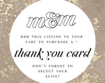 Thank You Card in Desired M&M Wedding Suite