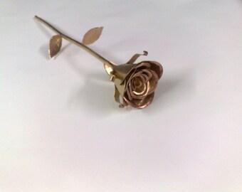 Gold roses, flower, metal roses, flower, metal art, gift, souvenir