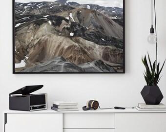 Mountain Range, Scandinavian Art Print, Mountain Landscape, Photography Print, Art Print, Digital Download Art, Mountains,