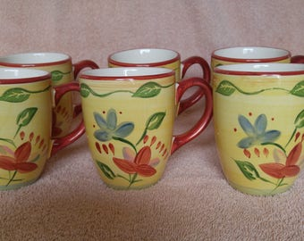 Set of 6 PFALTZGRAFF Palermo Coffee Cups Mugs