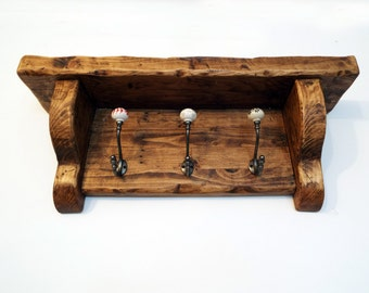 Coat rack, coat hook & shelf, large, rustic, handmade reclaimed wood stunning Farmhouse look