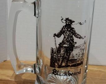 20 Ounce Handcrafted Blackbeard Glass Beer Stein Pirate