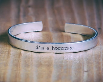 I'm A Horcrux / Harry Potter Jewelry / Harry Potter Gift / Literary Jewelry / Literary Gift / Horcrux Jewelry / Quote Jewelry