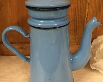 Vintage blue coffee pot