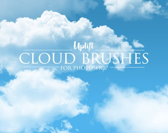 30 Real Cloud Photoshop Brushes