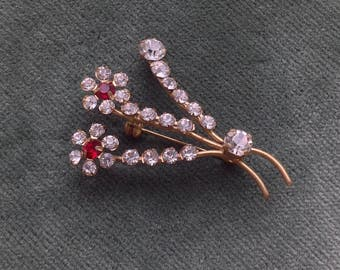 1940s Vintage gilt metal Vintage Pin/Brooch