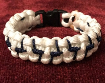 Barbed Wire Accented Paracord Bracelet