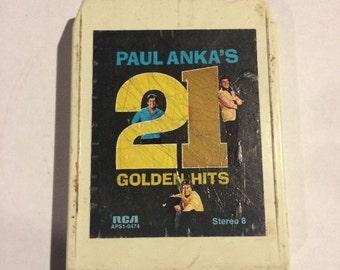 Paul Anka's 21 Golden Hits 8-Track Tape