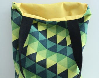 Yellow-green triangles pattern tote bag tote bag