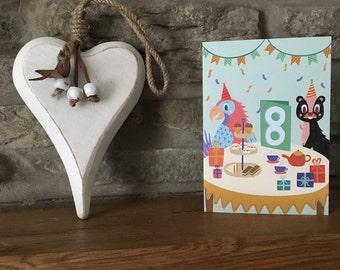 Eighth Birthday Card