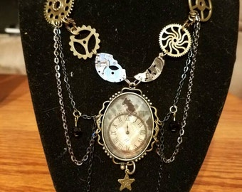 Custom made steampunk style necklace