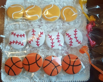 32 Mini Sports Balls Cookies Party Favors