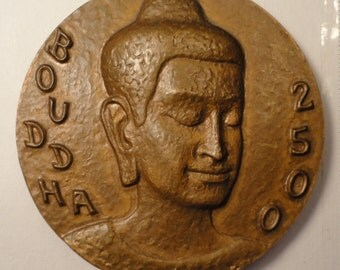 1977 Medal 2500 Anniversary of BUDDHA , Engels , Nepal / India