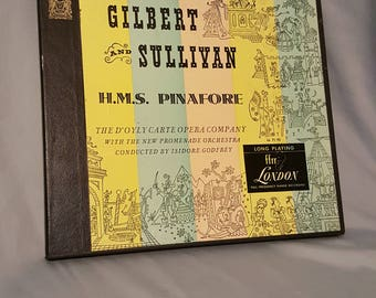 "Gilbert and Sullivan ""H.M.S. Pinafore"" 1950's Opera Record"