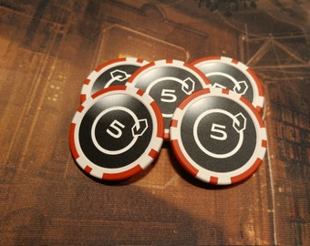 5 Credit Poker Chips (5 Quantity)