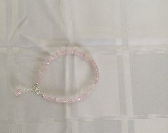 Rose Quartz sterling silver bracelet