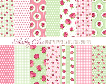 Shabby Chick paper pack Pink Pastel Paper