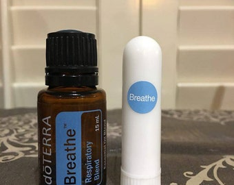 doTerra BREATHE INHAILER Essential Oil Respiratory Blend Ready to Use - Free Shipping!