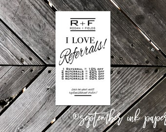 Rodan + Fields Referral Business Card