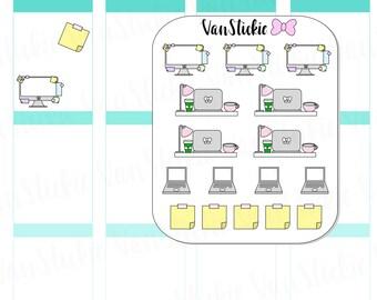 Doodle Set - Computer Work