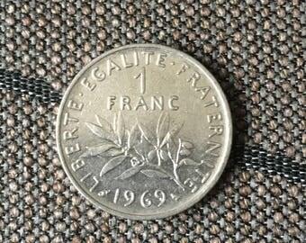 1969 France 1 Franc Coin