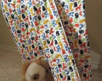 Handmade  100% Organic Baby Quilt