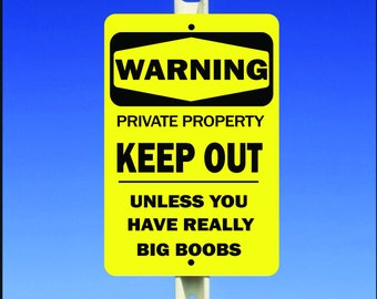 Warning Private Property Keep Out Aluminum Metal Sign