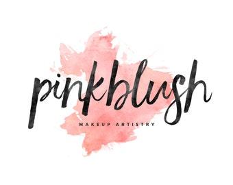 Makeup Artist Logo / Watercolor Logo / Pink Logo / Calligraphy Logo / Cursive Logo / Photography Logo and Watermarks / Modern Logo Design