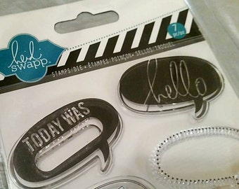 """Clearance! Heidi Swapp 7 pc """"Speech Bubble"""" Stamp/Die Set ~CLEARANCE~"""