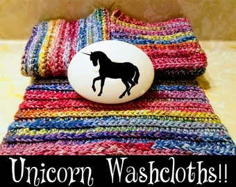 Unicorn Washcloths - Set of 3