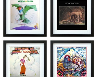Atomic Rooster - Framed Album Art - Set of 4 Images
