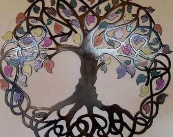 Tree Of Life,Celtic Design - Multicolor leaves, 36'' (90 cm)