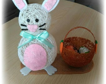 Bunny with basket confetti