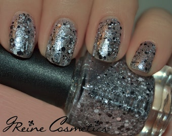 Tuxedo - Silver, Black & White Glitter Nail Polish LIMITED EDITION