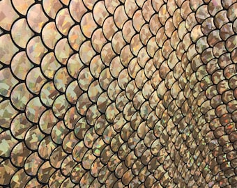 Mermaid mystic fish scale hologram strech spandex fabric sold for Get fish scale